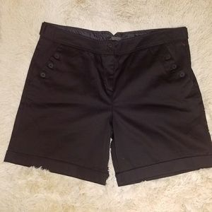 THE LIMITED Bermuda Tailored Black Shorts Cuff